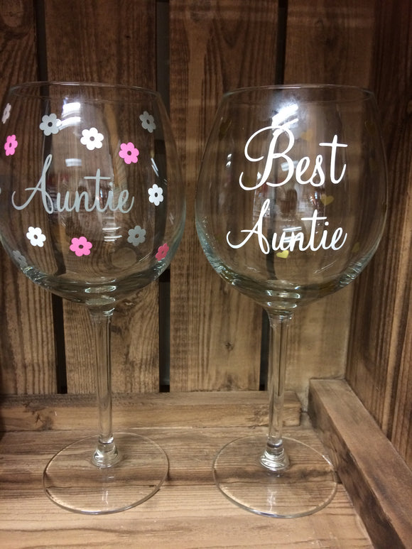 Auntie Wine Glass