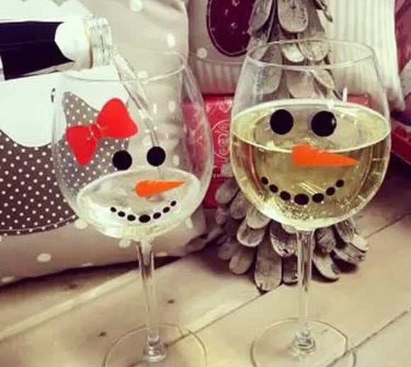 Snowlady Wine Glass