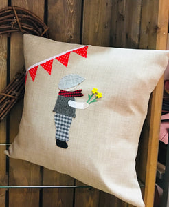 "18"" Handmade 'Traditional Welsh Boy' Cushion"