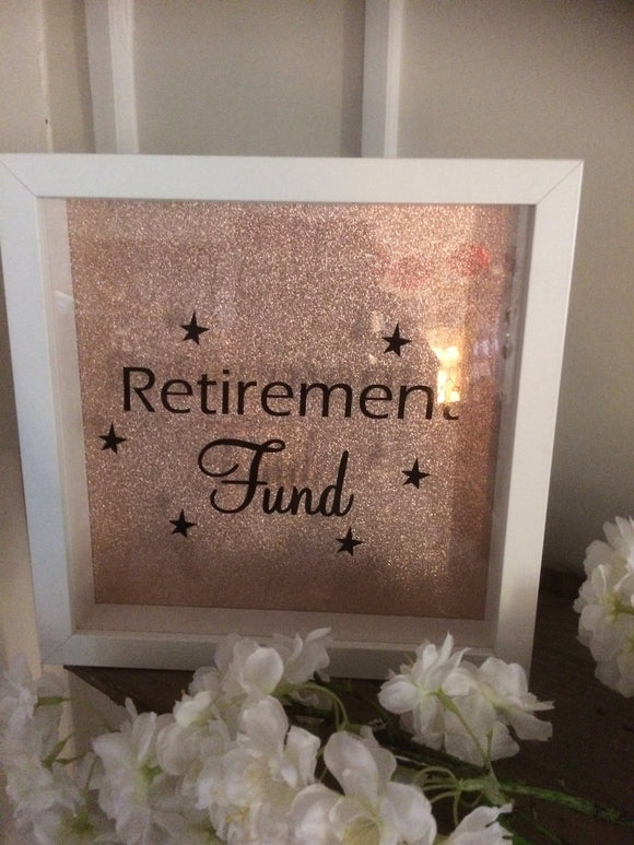 Retirement Fund Frame/Money Box