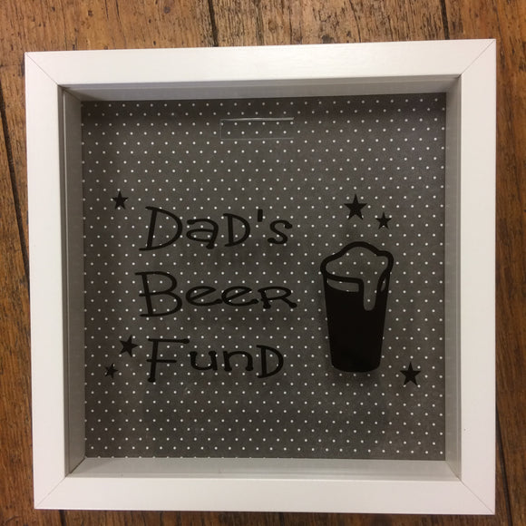 Dads Beer Fund Frame/Money Box