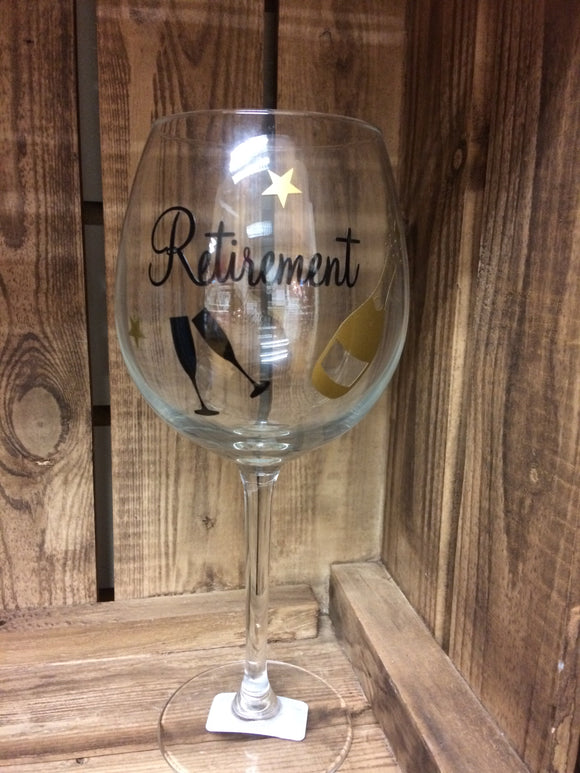 Retirement Wine Glass