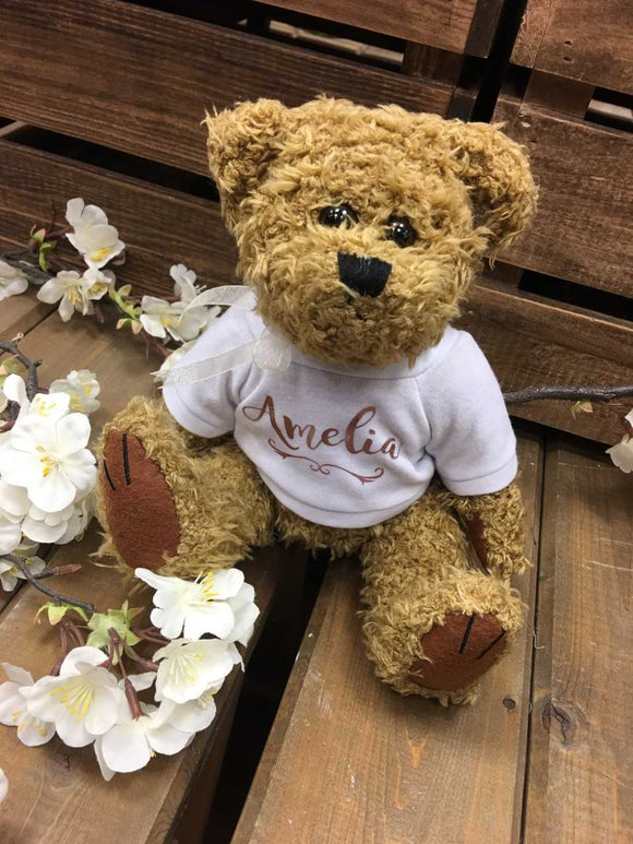 Personalised Traditional Bear -Small