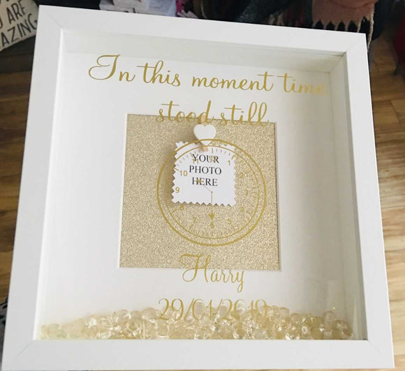 Personalised 'In This Moment Time Stood Still Frame'