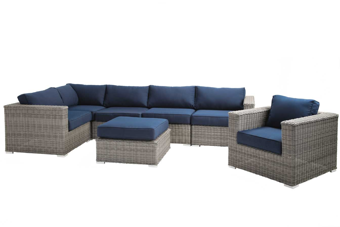 7-Piece Outdoor Sectional Sofa Set – YardLux