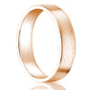 18k Solid Yellow/White/Rose Gold Classic Wedding Band Flat Matte Finish 4 MM
