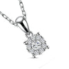 Beautiful Classic Halo Diamond Pendant Necklace