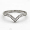Natural Diamond Wedding Chevron Band