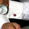 Ruby Rose Cut Classic Cufflinks