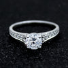 1CT Round Solitaire With Accents Diamond Engagement 14kt Gold Ring