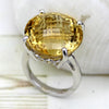 Genuine Citrine Fine Statement Ring