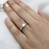 Classic Princess-Cut Solitaire Diamond Engagement Ring