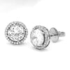 7.74 TCW Round Simulated Diamond Halo Stud Fine Earrings