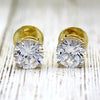 5 TCW Classic Round Simulated Diamond Stud Earrings