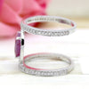 Natural Pink Ruby CZ Double Row Wrap Fine Rings