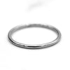 9kt 1MM Thin White Gold Wedding Band Dainty Stacking Ring