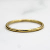 9kt 1MM Thin Yellow Gold Wedding Band Dainty Stacking Ring