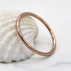 9kt 1MM Thin Rose Gold Wedding Band Dainty Stacking Ring