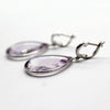 Extremely Light Amethyst Pear Shape Earrings