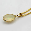 Natural Oval Opal Cabochon Pendant 18kt Yellow Gold