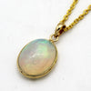 18kt Yellow Gold Natural Oval Opal Cabochon Pendant