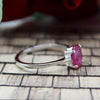 Natural Ruby Oval Shape 925 Sterling Silver Fine Ring