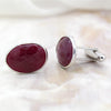 Natural Ruby Cufflinks