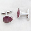 Asymmetric Shape Natural Ruby Cufflinks