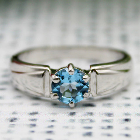 Blue Topaz 925 Sterling Silver Ring