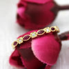 Marquise Ruby & Diamond 14kt Yellow Gold Stackable Ring