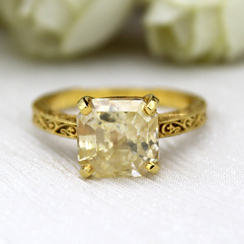 Yellow Sapphire Designer Statement Ring