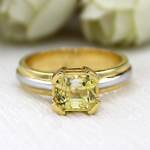 Yellow Sapphire Mens Statement Ring