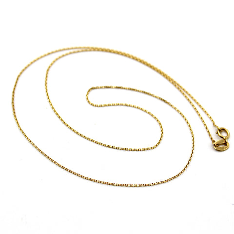 18k Solid Yellow Gold Cable Chain