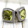 Lime quartz Modified Square Fine Cufflink