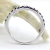 Natural Blue Sapphire Stackable Fine Wedding Ring