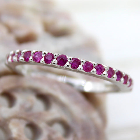 Ruby Stackable Fine Wedding Ring