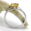 Delicate Pear Shape Citrine Fine Ring