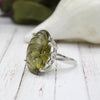 Unique Beer Quartz Statement Oval Shape Fine Ring
