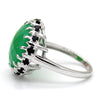 Chrysoprase & Black Onyx Fine Statement Ring
