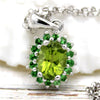Beautiful Peridot Tsavorite Fine Necklace Pendant