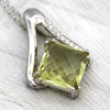 Lime Quartz Fine Necklace Pendant
