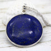Natural Lapis Lazuli Huge Round Statement Pendant