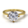 Classic Round Solitaire Simulated Diamond Engagement Ring