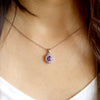 Natural Amethyst Tanzanite Oval Cut Fine Necklace Pendant