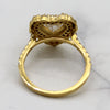 Heart Double Halo Simulated Diamond Engagement Ring 14kt Yellow Gold