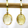 Natural Carved Citrine Dangle Drop Fine Earrings