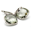 Natural Green Amethyst Dangle Drop Fine Earring