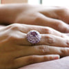 Flower Cluster Natural Amethyst Fine Ring
