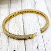 Baguette Diamond Luxury 14kt Yellow Gold Bracelet
