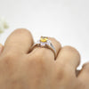 Flower Shape Oval Cut Fine Citrine Ring